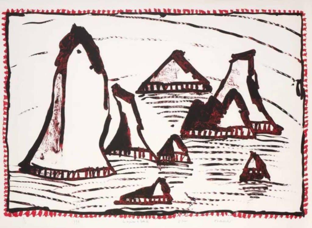 Les Aiguilles de Belle-Île, 1997 Lithographie sur vélin d'Arches, édition